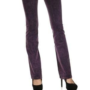 5871ea1a3768f T Party Fashion Pants - T PARTY BOOTCUT MINERAL WASH YOGA PANTS Purple